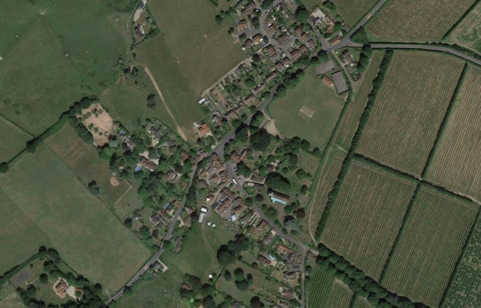 countryside in Pluckley, Kent