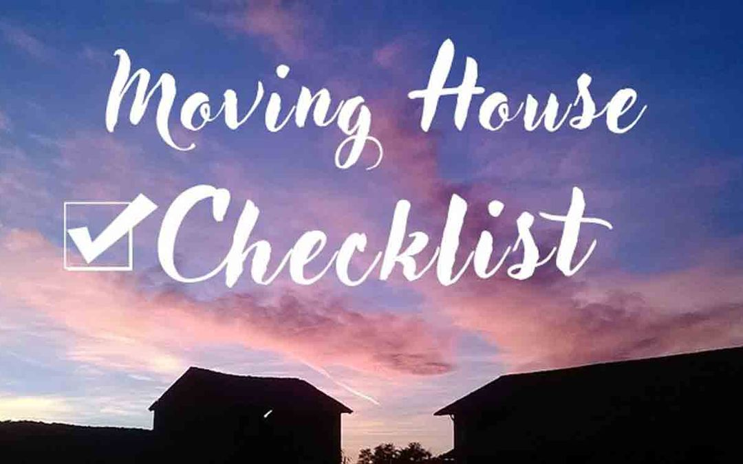 Moving House Checklist [infographic]