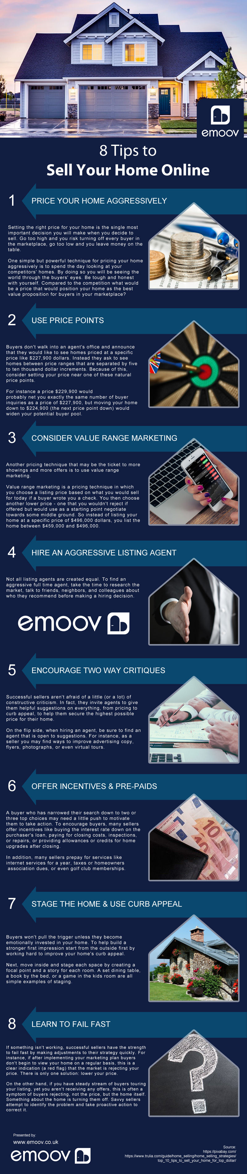 8 Tips to Sell Your Home Online [infographic]
