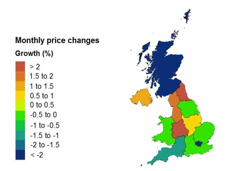 House price growth slow and steady in February, ONS report shows