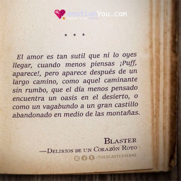El amor es tan sutil