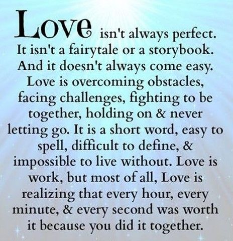 Love isn't always perfect