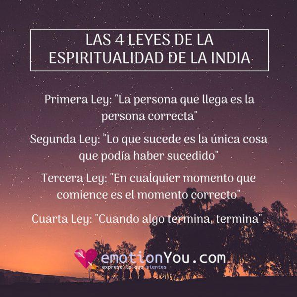 Las Cuatro Leyes de la Espiritualidad de la India