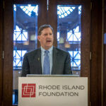 RHODE ISLAND FOUNDATION CEO and President Neil D. Steinberg speaks at a donors event in October. The foundation announced Friday that it awarded a record $56 million to approximately 2,000 area nonprofits in 2019. / COURTESY RHODE ISLAND FOUNDATION