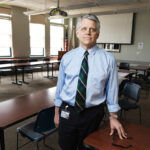 TOUGH ROAD AHEAD: Scott R. Jensen, director of the R.I. Department of Labor and Training, knows the state's $500 million unemployment insurance trust fund is about to take a big hit. He isn't sure just how big. / PBN PHOTO/RUPERT WHITELEY