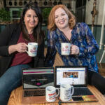 FORCES JOINED: Alicia Piazza, left, and Nicole Eller combined their strengths in social media marketing to form The Spark Social Inc. / PBN PHOTO/MICHAEL SALERNO