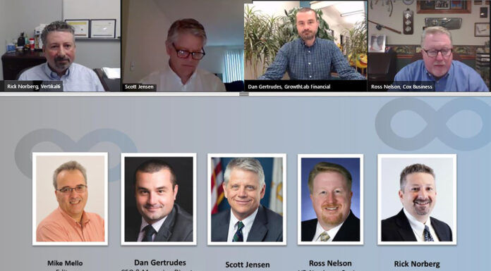 ONLINE GET-TOGETHER: Providence Business News' Business Continuity Summit took place online on April 30. The panelists communicated through web conferencing.