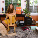 NEW DIRECTION: Jo Lee, owner of PopUp Rhody, in her home office in Providence. She is revamping her online marketplace designed to connect artisans with property owners with space to rent. / PBN PHOTO/ELIZABETH GRAHAM