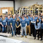 HELPING HUMANITY: Employees at Sweenor Builders Inc. helped its local Habitat for Humanity chapter with a project this year.COURTESY SWEENOR BUILDERS INC.