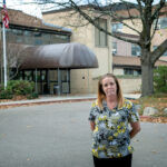 ON DUTY: Dawn Auclair, a certified nursing assistant at Hopkins Manor in North Providence, says her family asks her not to go work because of the dangers surrounding COVID-19, but she's passionate about her job and the residents who live there.  / PBN PHOTO/MICHAEL SALERNO