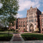 PROVIDENCE COLLEGE will move its semester-end online-learning schedule up a week due to the recent surge of COVID-19 in the state. / COURTESY PROVIDENCE COLLEGE