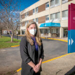 YOUTH MOVEMENT: Jamie Sanford is one of the youngest nursing home administrators in the state. She's 37. Most other administrators are nearing retirement age, and the industry is concerned about finding future staffers.  / PBN PHOTO/MICHAEL SALERNO
