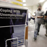 THERE WERE 81,555 individuals collecting some form of unemployment benefit in Rhode Island last week. / AP FILE PHOTO/PAUL SAKUMA