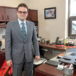 """COMMON THREAT: Normand Duquette, senior vice president at RISCO Insurance Brokerage Inc. in East Providence, says """"90% of the companies we see"""" have been subject to social engineering fraud attempts. / PBN PHOTO/MICHAEL SALERNO"""