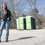 LIFE OF THE POTTY: Cassie Collinson says she's learned a lot about business since starting Cassie's Cans Inc. six years ago, when she was 19. The South Kingstown company rents portable toilets for construction sites. / PBN PHOTO/ELIZABETH GRAHAM