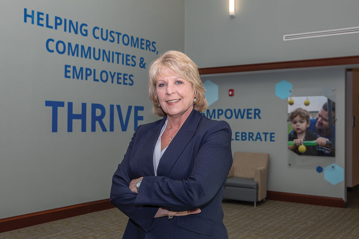 RAPID GROWTH: Mary Leach, executive vice president, consumer relationships, at BankNewport, established the Premier Banking group in 2019 as the bank's first private banking service, which has since become one of its fastest-growing business lines. / PBN PHOTO/KATE WHITNEY LUCEY