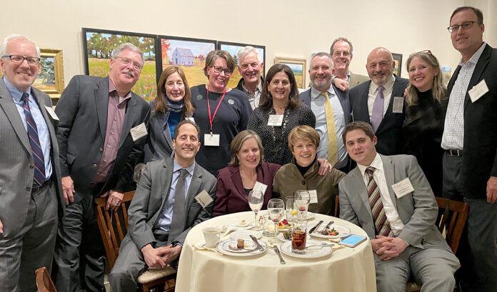 WELCOMING ALUMNI: Hinckley Allen & Snyder LLP recently hosted a reception for its Providence-based litigation group's alumni. / COURTESY HINCKLEY ALLEN & SNYDER LLP