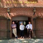 THE SLAM COLLABORATIVE, a national design firm, has opened a new office in Providence in the city's Jewelry District. Pictured, from left, are Mark Rhoades, managing principal for design; Catherine Ellithorpe, principal and SLAM's Providence office manager; and Glenn Gollenberg, principal. / COURTESY THE SLAM COLLABORATIVE