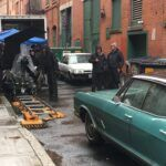 """FILMING FOR """"VAULT,"""" a movie about the 1975 Bonded Vault heist, took place in downtown Providence in 2018. The film was released the following year. / PBN FILE PHOTO/JAMES BESSETTE"""