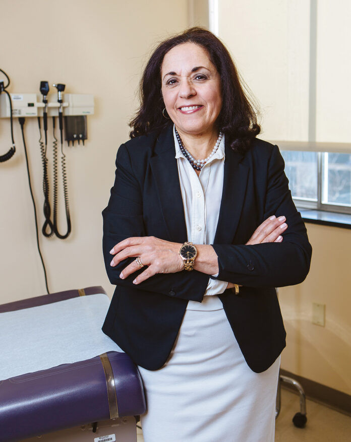MARIE GHAZAL, CEO of the Rhode Island Free Clinic, said her organization has spent hundreds of thousands of dollars on COVID-19-related expenses during the pandemic. She hopes a possible grant from the new vaccine incentive program can give a boost to her organization. / PBN FILE PHOTO/RUPERT WHITELEY
