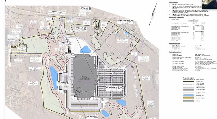 A MASSIVE retail distribution center proposed for 2120 Hartford Ave., Johnston, has been approved by the town's planning board. / COURTESY JOHNSTON PLANNING BOARD