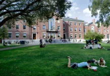 LOCAL COLLEGES, such as Brown University, pictured, are optimistic in having a rebound academic year starting in the fall after the COVID-19 pandemic upended campus life for 18 months. / AP FILE PHOTO/STEVEN SENNE