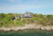 """THE WATERFRONT COMPOUND at 15 Dumpling Drive, including the 5,613-square-foot home called """"The Barnacle"""" and the 1,653-square-foot guest house called """"The Barnacle Lee, sold for $6 million, according to public records. / COURTESY ISLAND REALTY"""