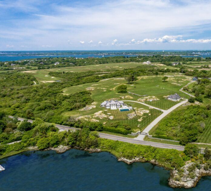 The Seaward estate at 339 Ocean Ave. in Newport was sold in part for $16 million after a subdivision, separating 20 acres including a home and guest house, from the rest of the 45-acre property, according to Lila Delman Compass, which represented the seller and buyer in the deal.