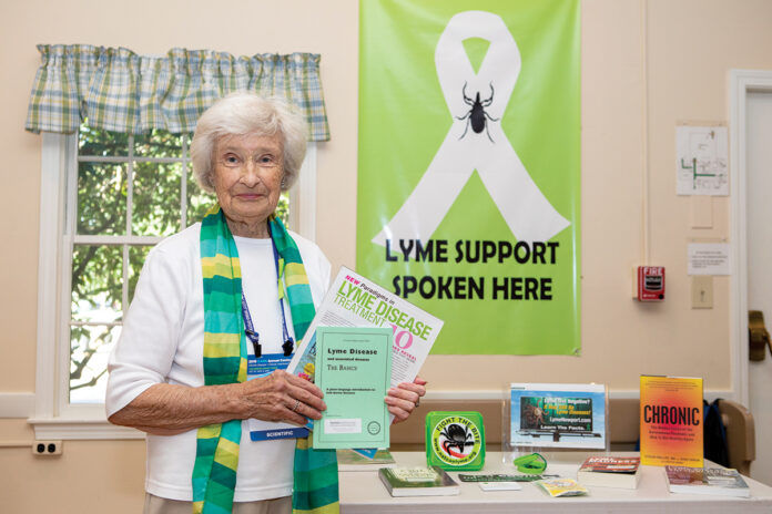 CAMPAIGN WORKER: Jane Barrows, founder of Lyme Newport, says awareness efforts about tick-borne infections have taken on new importance in the COVID-19 era because similar symptoms could lead to misdiagnosis. / PBN PHOTO/KATE WHITNEY LUCEY