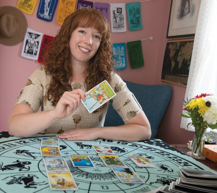 PASSIONATE PURSUIT: Jamie Chatel launched Arrow Tarot LLC, a new, home-based tarot reading, intuitive coaching and events business in Warwick, in February.  / PBN PHOTO/MICHAEL SALERNO