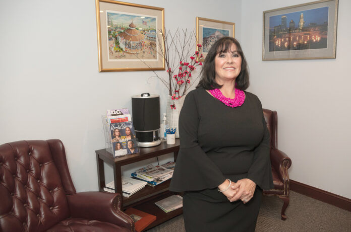 STATUS QUO: RoseMarie Clemente, owner of Baron & Clemente Real Estate LLC, says she opposes any effort to remove Portuguese from the list of qualifying origins for the state's Minority or Women Enterprise Business program.   / PBN PHOTO/MICHAEL SALERNO