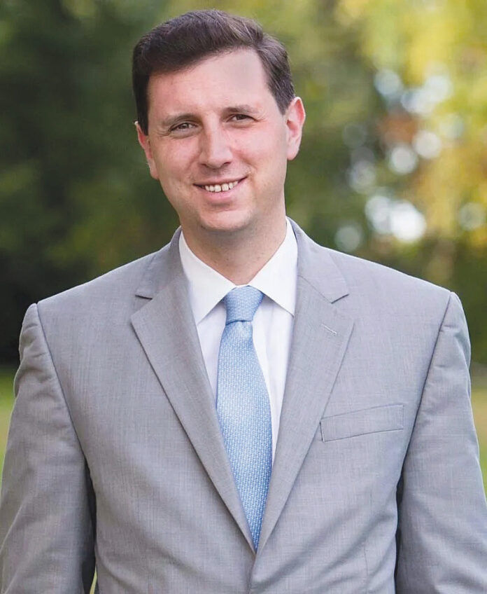TALKING SCHOOLS: General Treasurer Seth Magaziner will offer a progress report on repairing and replacing school buildings across the state at the Northern Rhode Island Chamber of Commerce's Eggs & Issues Breakfast event on Sept. 16.  / COURTESY SETH MAGAZINER