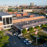 THE 158,400-SQUARE-FOOT PRINTING PLANT used by the Providence Journal was put up for sale by parent company Gannett Co., in a leaseback package with an asking price of $8 million. / COURTESY BELLCORNERSTONE