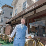 """DECISION PAYING DIVIDENDS: Manny Tampella, manager of La Masseria restaurant in East Greenwich, says the Main Street eatery is experiencing its """"best year ever,"""" helped in part by the traditionally dine-in restaurant's decision to start offering takeout meals. / PBN PHOTO/MICHAEL SALERNO"""