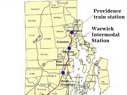 THE SOUTH COUNTY COMMUTER RAIL PROJECT is a planned 20-mile expansion of train service from Boston and Providence south through Warwick and Wickford Junction. /