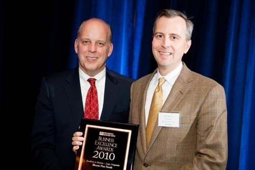PBN Publisher, Roger Bergenheim and Honoree Todd Blount, President, Blount Fine Foods / Rupert Whitely