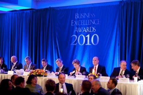 Head table with the 2010 BEA Sponsors.
