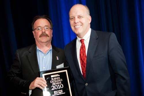 Honoree Peter Arpin,  President of Arpin International, with Roger Bergenheim