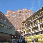 COURTESY PROVIDENCE VA MEDICAL CENTER ADDING ON: An addition under construction at the Providence VA Medical Center. The new wing will house a mental-health clinic and specialty labs.