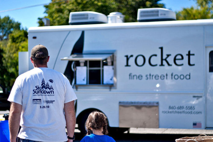 ROCKET FINE STREET FOOD moved to Providence from Torrington, Conn., on Wednesday, adding to the growing ranks of the local food truck scene. / COURTESY CARRIE ALBRECHT VIBERT