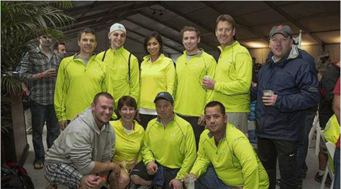 EMPLOYEES AT Independence Financial recently rode their bikes and ran, raising more than $15,000 for Best Buddies Rhode Island. From left to right, front row: Jim Falvey, Deb Nelson, Chris Beaulieu, Joshua Gorra; back row: Rick Beaulieu, John Carbone, Rulla Nehme, Brian Rys, Mike Harrington and Randal Poirier.