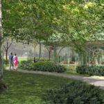 WELCOME SIGHT: A rendering of the proposed welcome center at The Breakers emulates the garden pavilions of the late 19th and early 20th centuries. / COURTESY PRESERVATION SOCIETY OF NEWPORT COUNTY