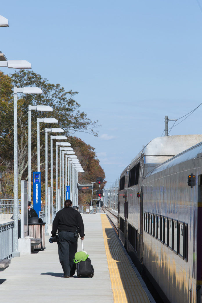 OFF TRACK? In June, Wickford Junction ridership decreased 28 percent, from an average of 201 people each day in June 2012 to 144 people this past June, DOT said. / PBN PHOTO/RUPERT WHITELEY