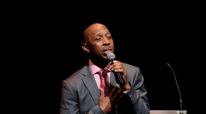 """Jeffrey Osborne performs Louis Armstrong's """"What a Wonderful World"""" at the 2014 Pell Awards on June 9 at Trinity Repertory Company in Providence. Osborne, a Grammy-nominated singer/songwriter and city native, was presented with the New England Pell Award for Excellence in the Arts for his longstanding support of music and the arts in Rhode Island. / COURTESY MARK TUREK PHOTOGRAPHY"""