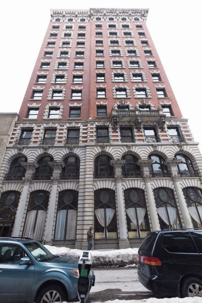 THE LANDMARK Union Trust Co. building downtown has been sold to the development group that produced the Providence G complex, with plans to convert part of it to an apartment building. / COURTESY SCOTT KINGSLEY/JUST ASK
