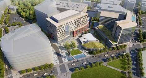 HERE IS A rendering of the three-phased project that will include more than 1 million square feet of development. / COURTESY I-195 REDEVELOPMENT COMMISSION