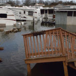 SIGN OF THINGS TO COME: A trailer park on Matunuck Beach Road in South Kingstown was flooded by the extreme weather brought by Superstorm Sandy in 2012. / PBN FILE PHOTO/BRIAN MCDONALD