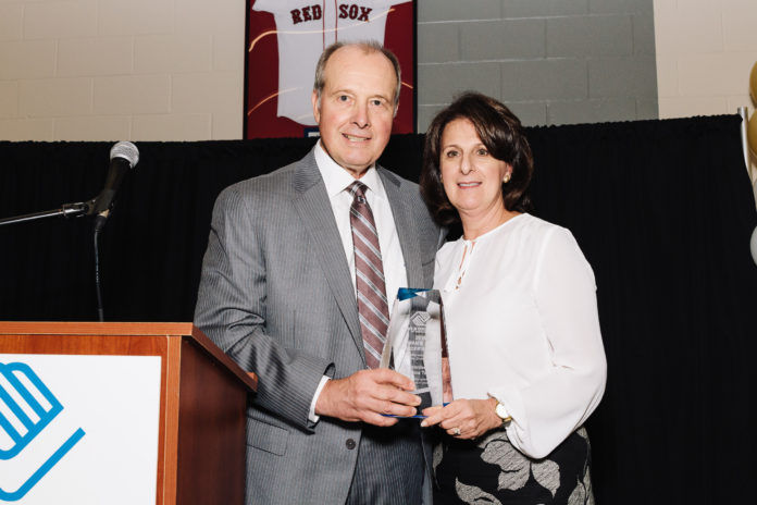 MIKE AND ANNA TAMBURRO recently received the Lyman B. Goff Founder's Award from the Boys & Girls Club of Pawtucket. Mike is an honorary co-chair of the club's Building Better Futures Capital & Endowment Campaign. / COURTESY CAT LAINE