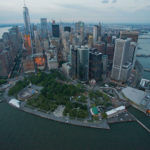 U.S. TREASURY SECRETARY Steven Mnuchin said neither he, nor the treasury, are not in favor of breaking up major U.S. banks as part of economic policy. Above: An aerial view of Lower Manhattan on Friday, June 19, 2015. BLOOMBERG / CRAIG WARGA