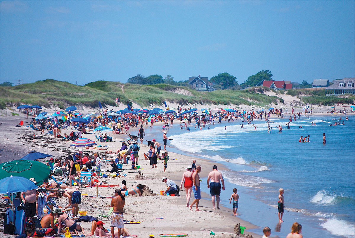 SUMMER RETREAT: Families have been traveling to Block Island as a summer retreat for generations, helping ensure steady business at the island's 35 hotels and its beaches. Revenue from the state's hotel tax is a major source of income for the island, generating $2.97 million between fiscal years 2007 and 2017.  / PBN PHOTO/K. CURTIS